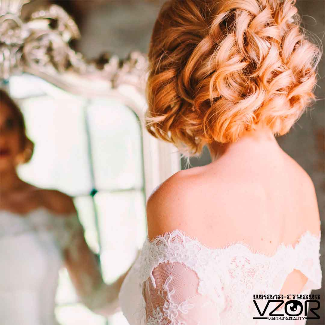 Фото прически свадебной и вечерней